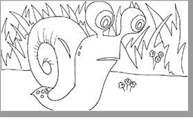 plansa de colorat melc